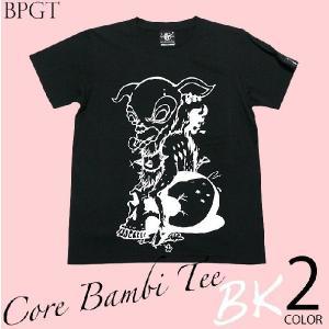 コアバンビ Tシャツ -G- ロックTシャツ ハードコア スカル モンスター 半袖 メンズ レディース|bambi