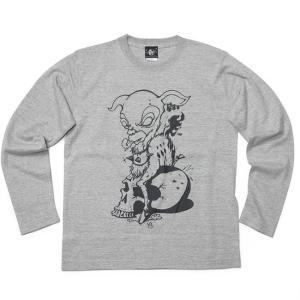 コアバンビ ロングスリーブ Tシャツ -G- 長袖 ロンT 子鹿 こじか スカル ドクロ パンクロックTシャツ|bambi