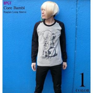 コアバンビ ラグランロングスリーブTシャツ -G- メンズ レディース ロック アメカジ キャラクター ロンT 長袖|bambi