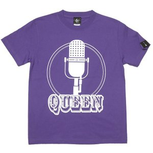 2weekセール!! Rock Queen Tシャツ (V.パープル) -G- 半袖 ロックTシャツ ロッククイーン ロックンロール ライブT フェスT 紫色|bambi