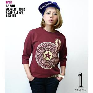 Bambi World Tour ハーフスリーブ Tシャツ -G- ロックTシャツ ライブ フェス レコード バンドT 5分袖  - bambi