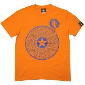 ロックTシャツ / Bambi World Tour Tシャツ (オレンジ)-G- 半袖 ワールドツアー バンドTシャツ アメカジ 蜜柑色|bambi