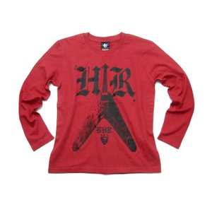 Bambi Hard Rock ロングスリーブ Tシャツ -G- ロンT 長袖 ハードロック ギター ロックTシャツ バンドTシャツ 男女兼用|bambi