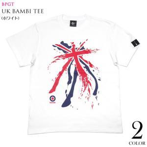 パンクロックTシャツ / UKバンビ Tシャツ ( ホワイト ) -F- ロックTシャツ パンクTシャツ ユニオンジャック ロンドン イングランド 大きいサイズ 半袖 白色|bambi