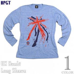 UKバンビ ネオビンテージ ロングスリーブTシャツ -G- 長袖Tシャツ ロンT パンクロック ユニオンジャック グラフィックデザイン|bambi