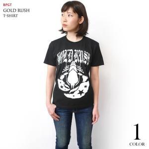 GOLD RUSH(ゴールドラッシュ)Tシャツ (ブラック)-G- ロックTシャツ ROCK アメカジ カジュアル 半袖 黒色|bambi|02