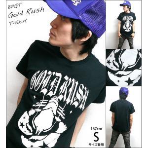 GOLD RUSH(ゴールドラッシュ)Tシャツ (ブラック)-G- ロックTシャツ ROCK アメカジ カジュアル 半袖 黒色|bambi|04