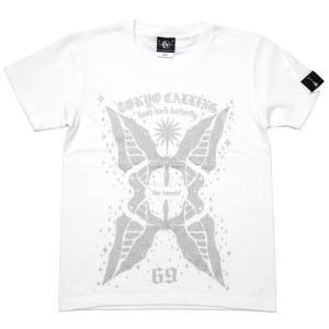2weekセール!! butterfly Tシャツ (ホワイト)-G- 半袖 白色 バタフライ 蝶々 ちょうちょ カジュアル アメカジ グラフィック|bambi