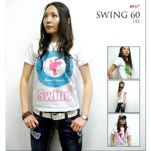 特別プライス☆ Swing 60 Tシャツ -G- ターゲット モッズ ロゴt ロックT バンド プリント メンズ レディース 大きいサイズ 半袖|bambi