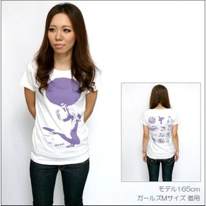 SOUL 80(ビックアフロ)ガールズ UネックTシャツ -G- ソウルミュージック ディスコ ホワイト オリジナル プリント かわいい レディース 半袖|bambi|02