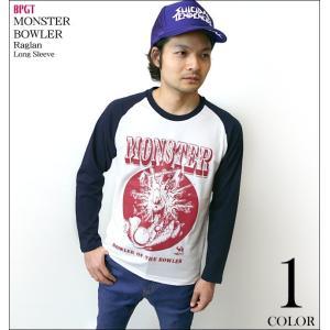 MONSTER BOWLER (モンスターボーラー) ラグランロングスリーブ -G- ロンT 長袖Tシャツ パンク ロック メンズ レディース|bambi