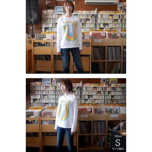 Rainbow Record (レインボーレコード) ロングスリーブTシャツ -G- 虹 ロゴ ロンT 長袖 カットソー カジュアル ホワイト|bambi|04