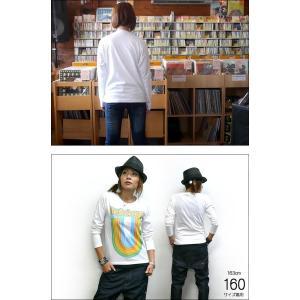 Rainbow Record (レインボーレコード) ロングスリーブTシャツ -G- 虹 ロゴ ロンT 長袖 カットソー カジュアル ホワイト|bambi|05