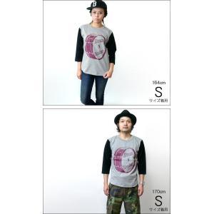 Drum Rocker 1(ドラムロッカー)3/4スリーブ ベースボールTシャツ -G- ロックTシャツ ドラマー バンド ヘビーウェイト 7分袖 bambi 02