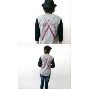 Drum Rocker 1(ドラムロッカー)3/4スリーブ ベースボールTシャツ -G- ロックTシャツ ドラマー バンド ヘビーウェイト 7分袖 bambi 03
