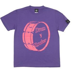 Drum Rocker 1(ドラムロッカー) Tシャツ (V.パープル) -G- 半袖 ロック ロッ...
