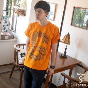 ギターのG Tシャツ (オレンジ) -G- ロックTシャツ バンドTシャツ ロゴT ギター柄 カジュアル おしゃれ 半袖|bambi|02