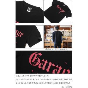 Garage(ガレージ) Tシャツ (ブラック)-G- 半袖 黒色 ロックTシャツ バンド メンズ レディース ライブ フェス 音楽 bambi 05