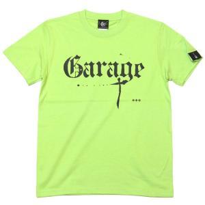 2週間セール!! Garage(ガレージ) Tシャツ (ライムグリーン)-G- ロックTシャツ ロックンロール バンド ライブ フェス 音楽 緑色 半袖|bambi
