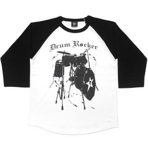 Drum Rocker2 ラグランスリーブTシャツ -G- 7分袖 七分袖 ドラム 楽器 バンド ライブ フェス ロックンロール|bambi|05