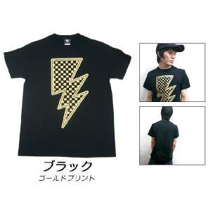 特別プライス☆ イナズマ Tシャツ -G- 半袖 稲妻 ROCK ロックTシャツ バンド ライブ オリジナルTシャツ|bambi|03