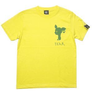 夏セール!! 涙目バンビ(TEAR) Tシャツ (イエロー) -G- 半袖 ワンポイント ロゴマーク BAMBI 子鹿 こじか 黄色|bambi
