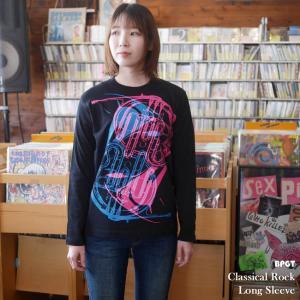 Classical Rock ロングスリーブTシャツ -G- 長袖Tシャツ ロンT ロックンロール バンドT オリジナル カットソー ブラック 黒|bambi
