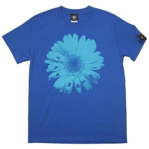 Bambi Flower Tシャツ (ロイヤルブルー) -G- フラワー 花柄 フォト 写真 グラフィックデザイン 可愛い 青色 半袖|bambi