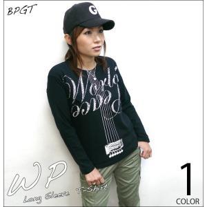 WP ロングスリーブTシャツ -G- ロンT 長袖 平和 カットソー ロックTシャツ ギター カジュアル プリント|bambi