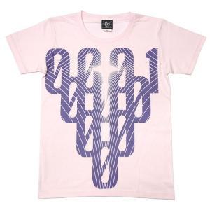 000-one UネックTシャツ -G- ゼロ 半袖 綿 グラフィック カジュアル アメカジ オリジナル プリント ピンク|bambi|05