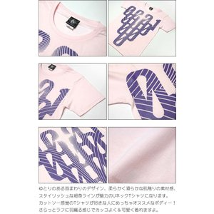 000-one UネックTシャツ -G- ゼロ 半袖 綿 グラフィック カジュアル アメカジ オリジナル プリント ピンク|bambi|06
