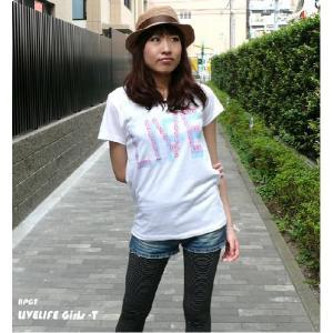 LIVELIFE ガールズ UネックTシャツ - BPGT - バンビプラネットグラフィックTシャツ -A- bambi