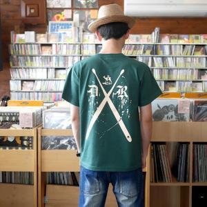 ロックTシャツ / DR3 (ドラムロッカー3) Tシャツ (アイビーグリーン) -G- 半袖 緑色 ドラム ドラマー バンド ロックンロール|bambi|04