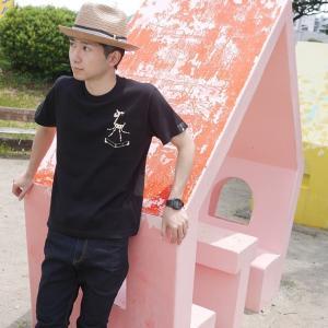 鹿の骨 Tシャツ (ブラック) -G- 半袖 黒色 スカル 骸骨 ロックTシャツ ワンポイント バックプリント アメカジ カジュアル|bambi|04