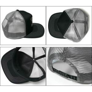 スケートゴート エンブロイダード メッシュキャップ -G- スラッシャー 刺繍ロゴ スケボー パンクス 帽子 CAP ブラック×グレー bambi 03
