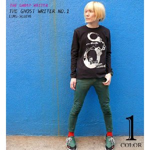 The Ghost Writer No.1 ロングスリーブTシャツ -G- パンクロック パンキッシュ ロンT ブラック 黒  かっこいい ブランド 長袖|bambi