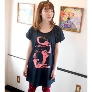 The Ghost Writer No.1 Tシャツワンピース -G- ワンピTee ロングtシャツ パンクロック ガーリー ストリート ブラック 半袖|bambi