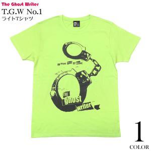 The Ghost Writer No.1 ライトTシャツ (ライムグリーン) -F- 半袖 手錠 UK US PUNKROCK パンクロックTシャツ パンキッシュ bambi