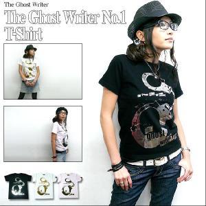 パンクロックTシャツ / The Ghost Writer No.1 Tシャツ (ブラック&ホワイト - 箔プリント ) -G- PUNKROCK アメカジ かっこいい 半袖 大きいサイズ|bambi
