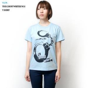 パンクロックTシャツ / The Ghost Writer No.1 Tシャツ (ライトブルー) -G- PUNKROCK 手錠 パンクスタイル かっこいい 半袖|bambi|04