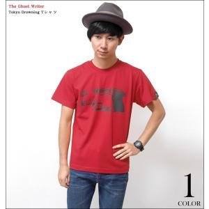 2weekセール!! Tokyo Drowning Tシャツ ( レッド )-G- 半袖 パンクロックTシャツ アメカジ カジュアル バックプリント 赤色|bambi