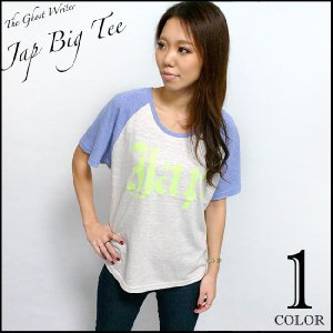 Jap ラグラン ガールズ ビックTシャツ -G- パンクTシャツ ロックTシャツ アメカジ 半袖 bambi