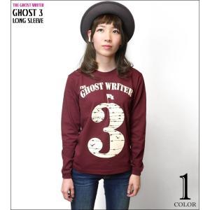 GHOST 3 ロングスリーブ Tシャツ -G- ロンT 長袖 Tシャツ カットソー ロゴ パンクロック アメカジ カジュアル かっこいい プリント|bambi