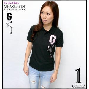 ゴーストピン スタンダード ポロシャツ -G- ポロ パンク ロック 半袖 メンズ レディース ブラック|bambi