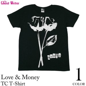 廃盤(在庫限り) Love & Money ラブ&マネー TC Tシャツ-G- 半袖 パンクロックTシャツ バラ 薔薇 おしゃれ プリント|bambi