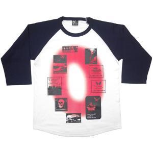 Gleam 0(ゼロ) ラグランスリーブTシャツ -G- 7分袖 七分袖 カットソー グラフィックデザイン アメカジ カジュアル|bambi|04