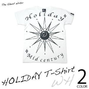 HOLIDAY Tシャツ -G- ホリデー スカル ドクロ ロックTシャツ プリント 半袖 かっこいい 春夏秋服コーデ|bambi