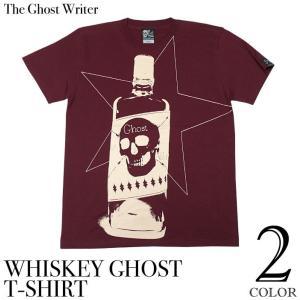 ロックTシャツ / Whiskey Ghost Tシャツ -G- ウイスキー スカル ドクロ アメカジ ロックTシャツ デザイン メンズ レディース 半袖 夏 bambi
