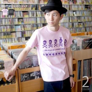 スカルTシャツ / EDST-ゴースト5 Tシャツ(ライトピンク)-G- 半袖 ドクロ パンクロックTシャツ かっこいい アメカジ カジュアル|bambi