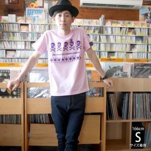 スカルTシャツ / EDST-ゴースト5 Tシャツ(ライトピンク)-G- 半袖 ドクロ パンクロックTシャツ かっこいい アメカジ カジュアル|bambi|02
